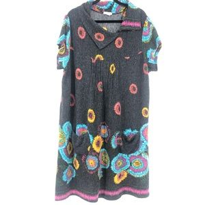 Joe Browns Short Sleeve Midi Gray Knit Dress